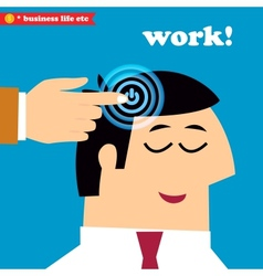 Wake up and work office weekdays vector