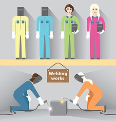 Welding work vector