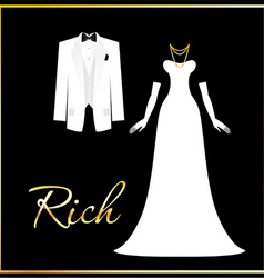 Rich people vector