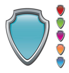 Shields icon set vector image