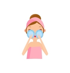 Girl Using Eye Patches vector image