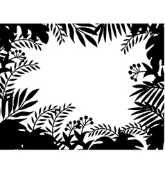 Nature silhouette background vector