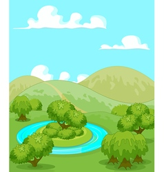Magic rural landscape vector