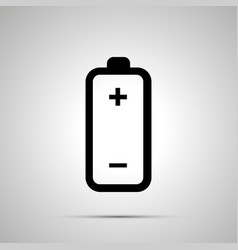 battery simple black icon vector image