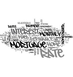 Benefits of mortgage refinance text word cloud vector