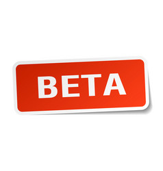 Beta square sticker on white vector