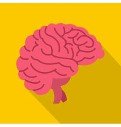 Brain icon flat style vector