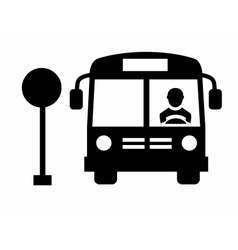 Bus icon vector image vector image