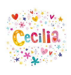 Cecilia girls name vector