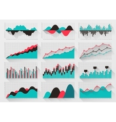 Charts elements for business infographics vector image vector image
