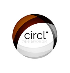 Clean professional colorful circle business icon vector