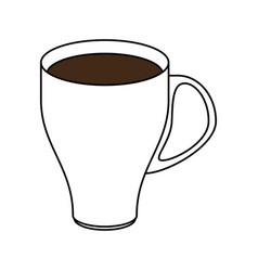 Color silhouette image cartoon porcelain modern vector