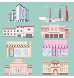 different urban industrial vector image vector image
