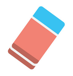 Eraser flat icon education and school rubber vector