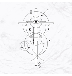 Geometric abstract mystic symbol vector