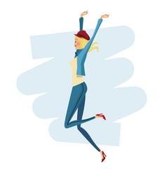 happy woman fashion slim vector image