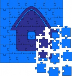 Jig saw puzzles vector