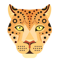 leopard head logo cheetah decorative vector image vector image