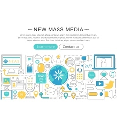 modern line flat design News mass media vector image