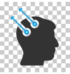 Neural interface plugs icon vector