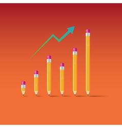 Pencil Graph vector image vector image