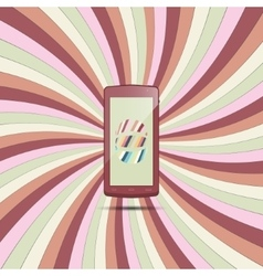 Phone on colored paper 2 vector image vector image