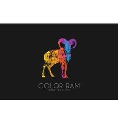 Ram logo design color ram creative logo vector