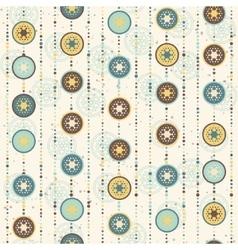 Retro Christmas pattern circles and abstract star vector image