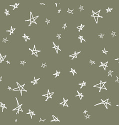 Seamless pattern design with sketchy stars vector