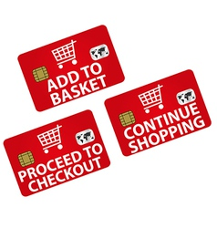 Shopping - Icons vector image vector image