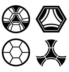 Soccer club emblem ball pattern vector