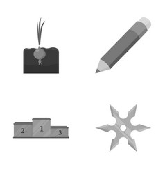 Sports garden and other monochrome icon in vector