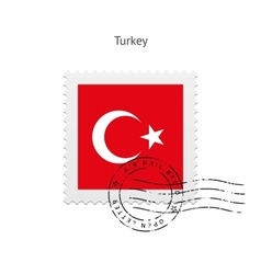 Turkey flag postage stamp vector