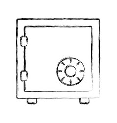uncolored safe vector image
