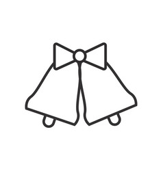 wedding bells line icon sign vector image