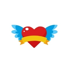 Winged heart logo vector