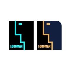 logo speaking man vector image