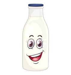 a face on a bottle vector image
