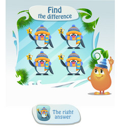 Find the difference penguin vector