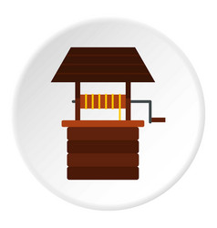 water well icon circle vector image