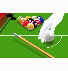 Billiard game vector image