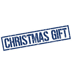 Christmas gift stamp vector
