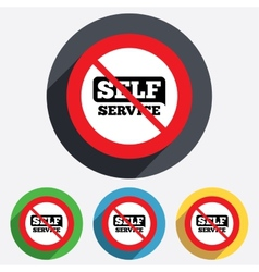 No self service sign icon maintenance button vector