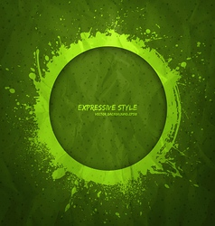 Hand drawn grunge green background vector