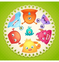 Cute monsters design vector image