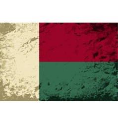 Madagascar flag grunge background vector