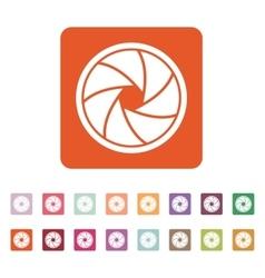 The diaphragm icon aperture symbol vector