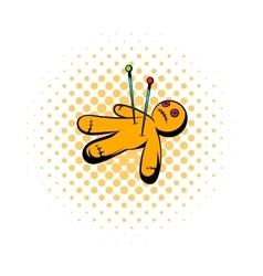 Voodoo doll icon comics style vector image