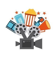 Cinema concept design vector