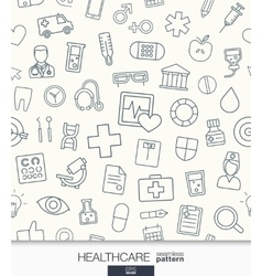 Healthcare wallpaper medical seamless pattern vector